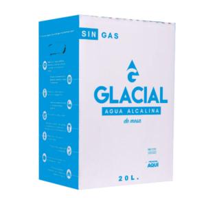 Agua de mesa Glacial 20 lt en caja