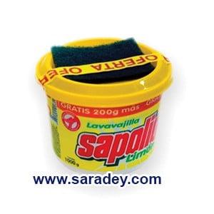 Lavavajilla Sapolio Limon x 1Kg