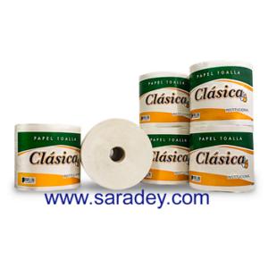 Papel Higienico Jumbo Clasica blanco Liso 500 mts x 6 rollos