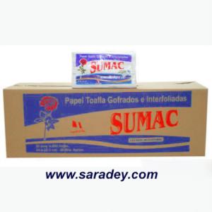 Papel Toalla Sumac blanco interfoliado 200 hojas x 20 pqt