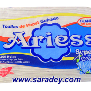 Papel toalla Ariess blanca 200 doble hoja