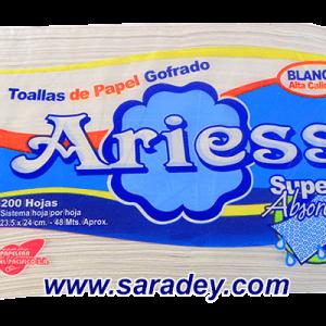 Papel Toalla Ariess blanco interfoliado 200 doble hoja
