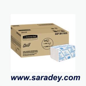 Papel Toalla Interfoliado Blanco Clasica 200 Hojas Caja x 20 Paquetes