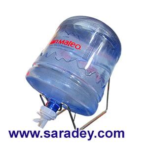 Soporte + Valvula + Envase + Agua mineral San Mateo 21 litros