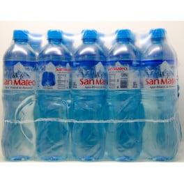 Agua mineral San Mateo con gas 600 ml x 15 u.