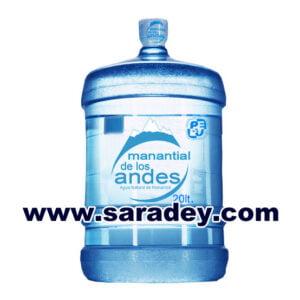 Bidones de agua mineral alcalina Manantial de los Andes 20 litros retornable