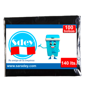Bolsa para basura Sdey 140 litros x 100 u.