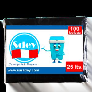 Bolsa para basura Sdey 25 litros x 100 u.