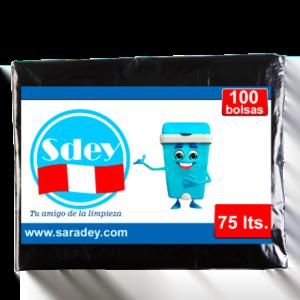 Bolsa para basura Saradey 75 litros x 100 u.