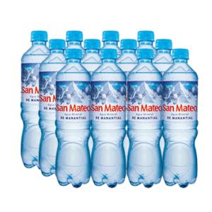 Agua mineral San Mateo sin gas 600 ml x 15 u.