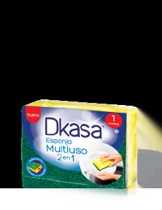 Esponja Dkasa multiuso verde con amarilla x 12