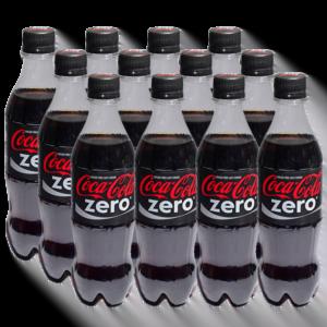 Gaseosa Coca Cola Zero 500 ml x 12 u.