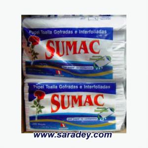 Papel Toalla Sumac blanco interfoliado 200 hojas