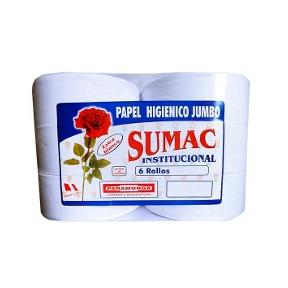 Papel Higienico Jumbo Sumac economico 6 rollos etique amarilla
