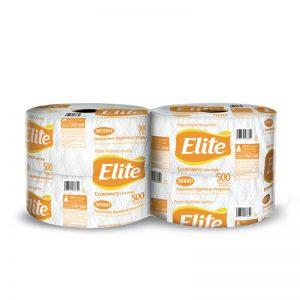 Papel Higienico Elite blanco 500 mts x 4 rollos etiqueta anaranja