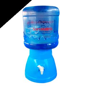 Surtidor celeste + Envase + Bidon de Agua mineral San Mateo 20 Lt