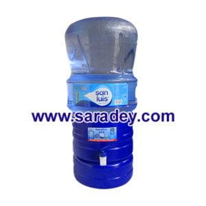 Surtidor (dispensador) azul + Envase + Agua de mesa San Luis en bidon 20 litros