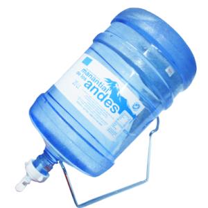 Dispensador de gua(Soporte + Valvula) + Envase + Agua alcalina natural Manantial de los Andes 20 lt